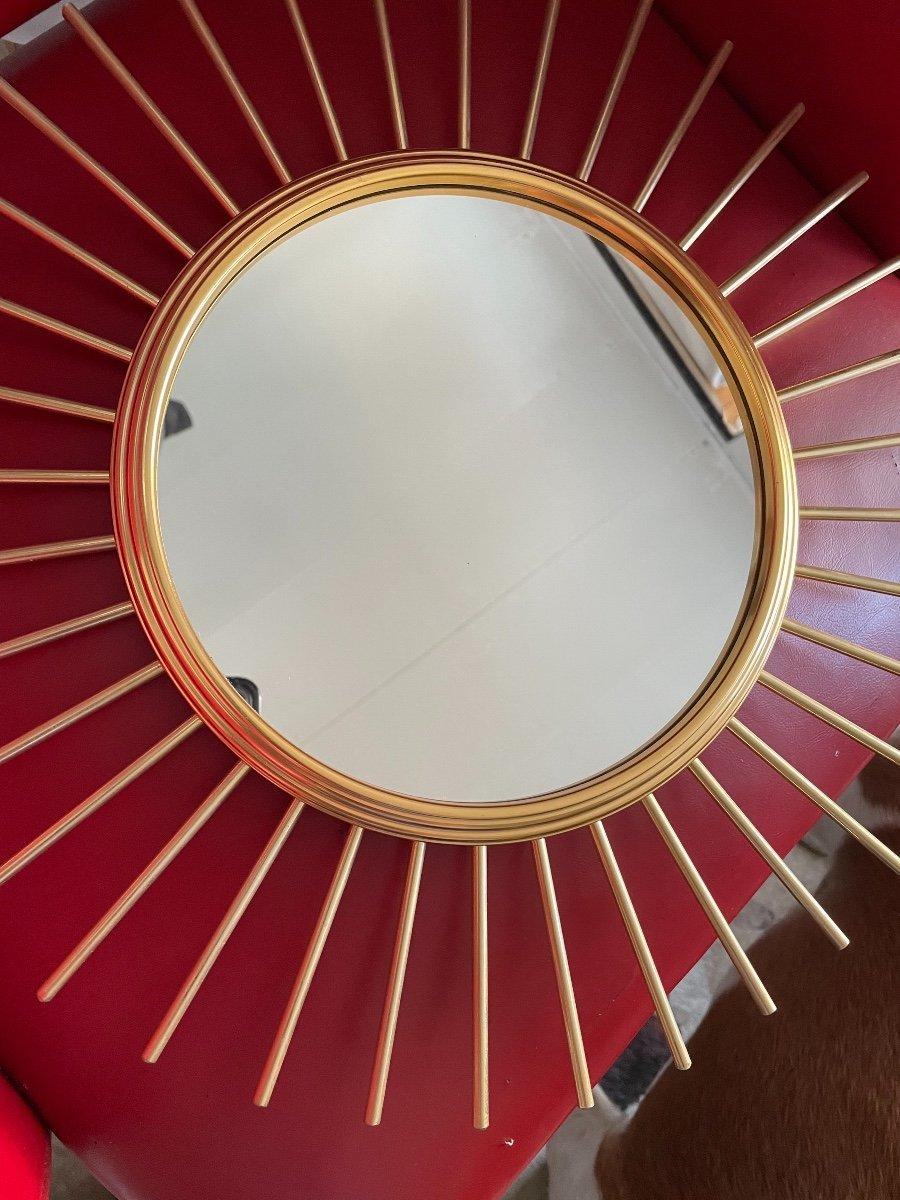 Miroir Soleil Bronze Doré -photo-4