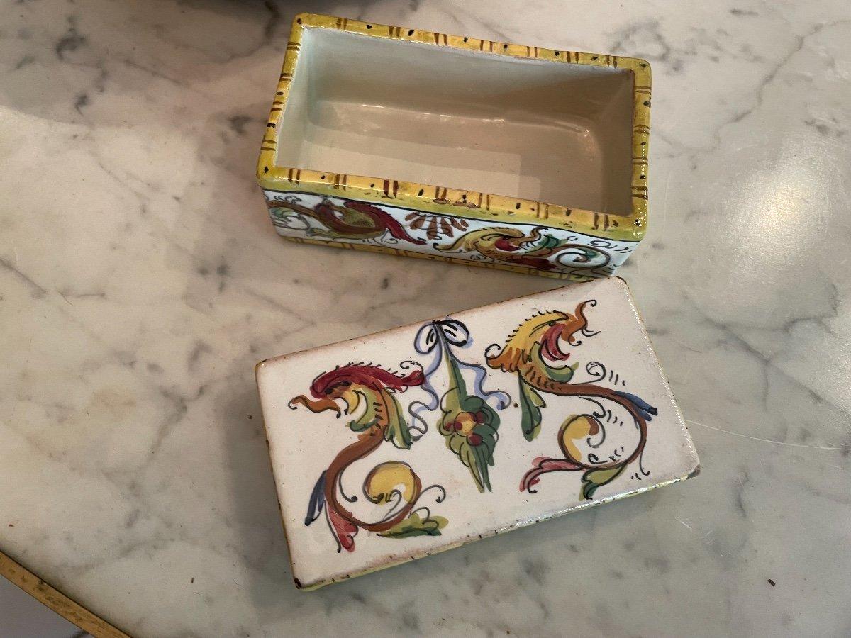 Boîte Faience XVIIIeme -photo-2
