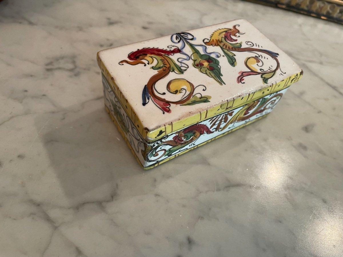 Boîte Faience XVIIIeme -photo-8