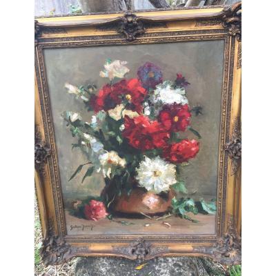Huile Fleurs De Gustave Durand