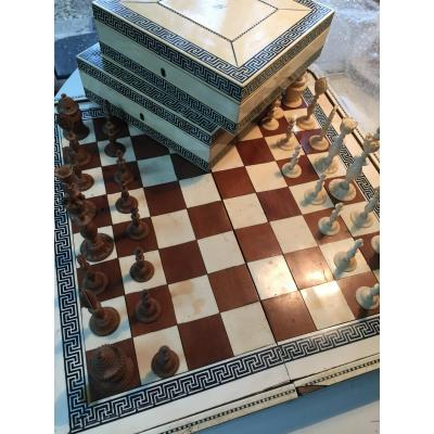 XVIII Trictrac Chessboard From Travel
