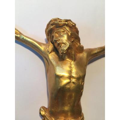 Christ En Bronze Doré XIXeme
