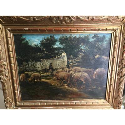 Sheepfold: Goats And Sheep XIXth