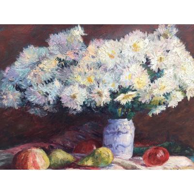 Nature Morte Fleurs Et Fruits
