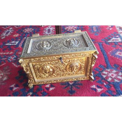 Coffre à Bijoux Bronze Doré Niii