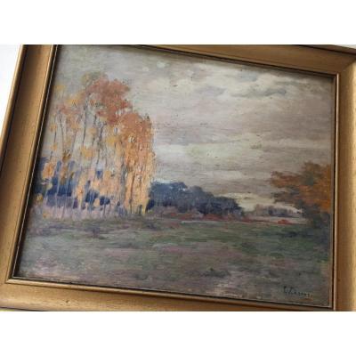 Paysage D'automne De Louis Charve