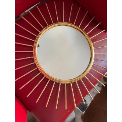 Miroir Soleil Bronze Doré