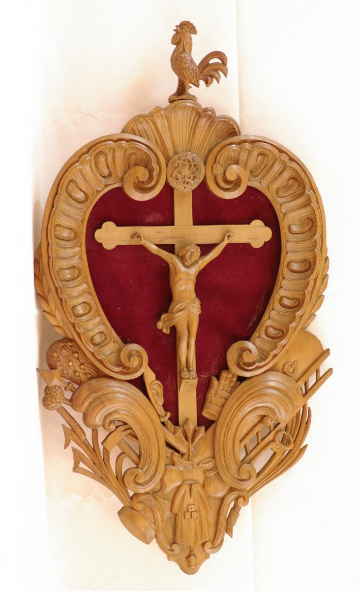 Christ Bois Symbolisme Art Populaire