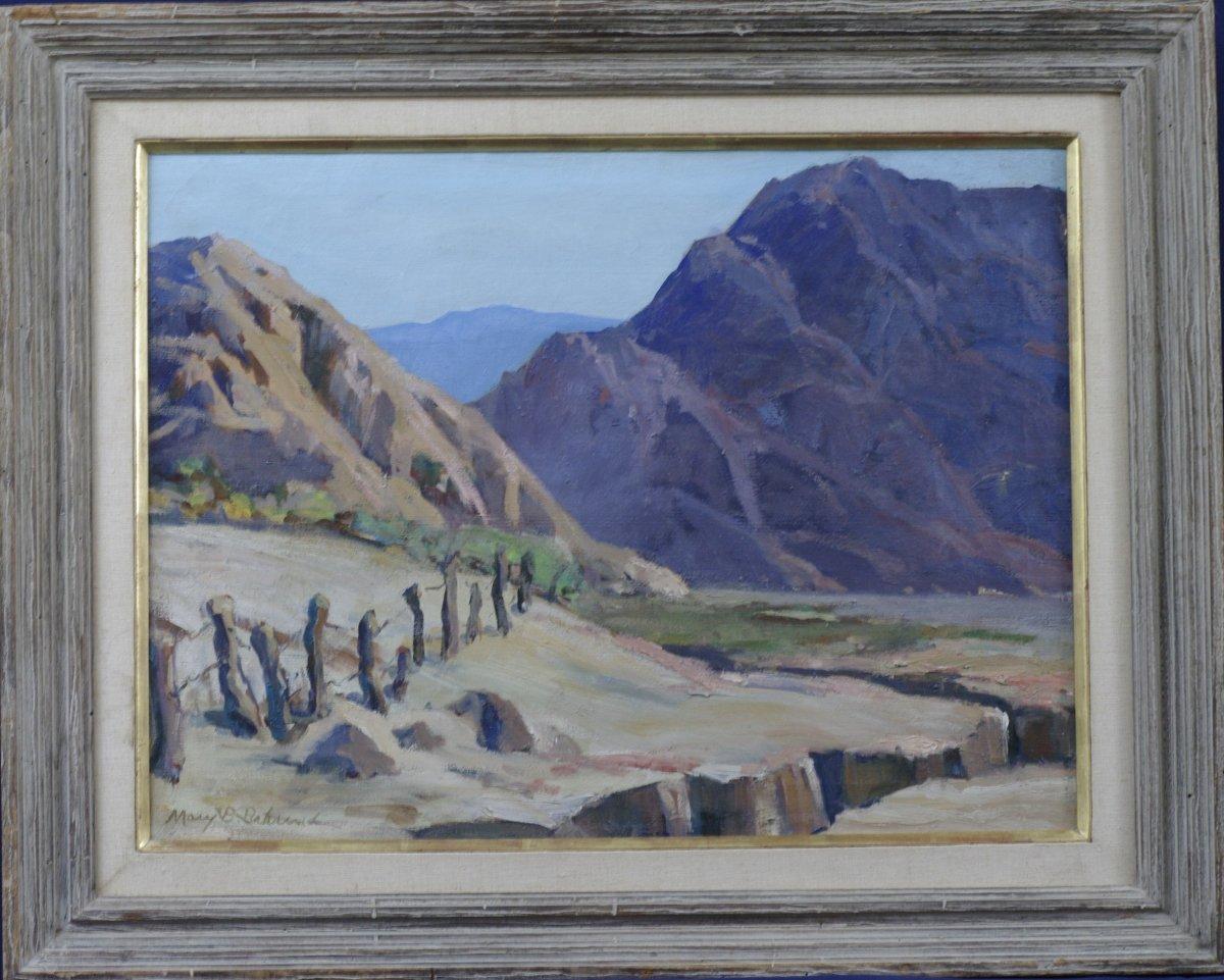 Tableau Mary Baylis Barnard 1930 Paysage Montagne