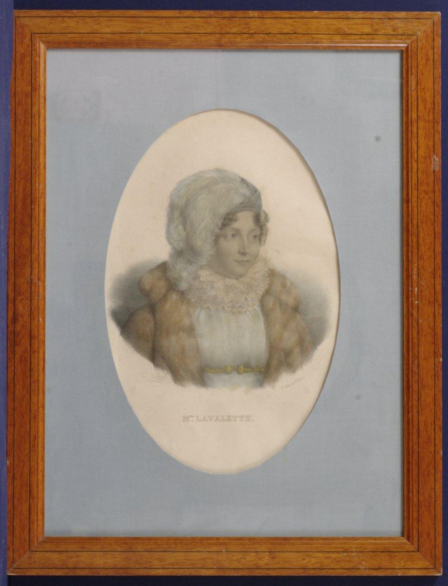 Lithographie Originale Mme Lavalette Par Delpech