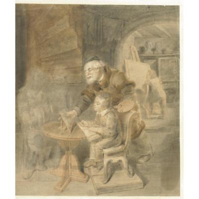Drawing Study 1833 The Atelieintre The Lesson
