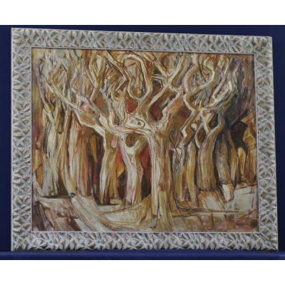 La Forêt Tableau 1957 Monogramme Aw