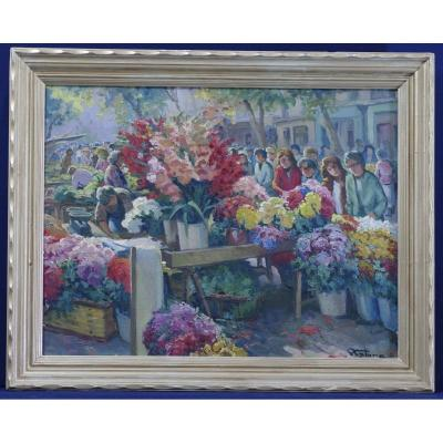 Marché Aux Fleurs Table By Pierre Fabre 1930 Toulon