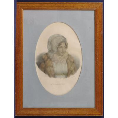 Original Lithograph Mme Lavalette By Delpech