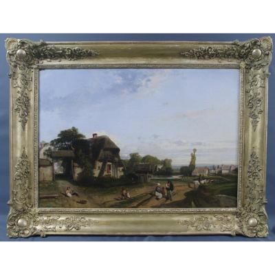 Charles Ramelet 1830 Scène Paysanne