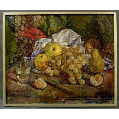 Table Alexandre Bondicov 1965 Still Life With Grapes