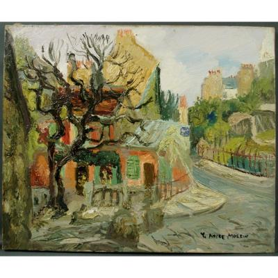 Table Around 1930 View Of The Rabbit At Gill Montmartre By Yves André Moleux