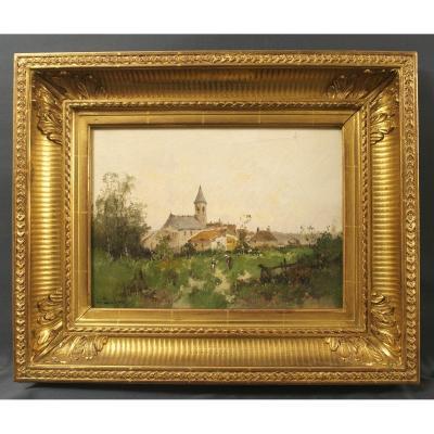 Léon Dupuy Eugène Galien-laloue View Of A Village
