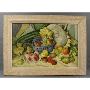 Gaston Ventrillon Lejeune Fruit d'Automne Around 1930 Nancy