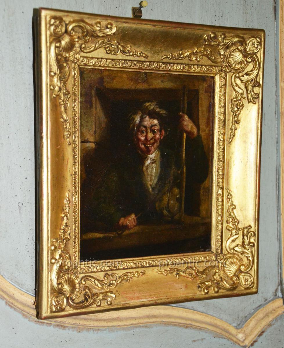 Petit Portrait Grotesque Par Eustache Berat