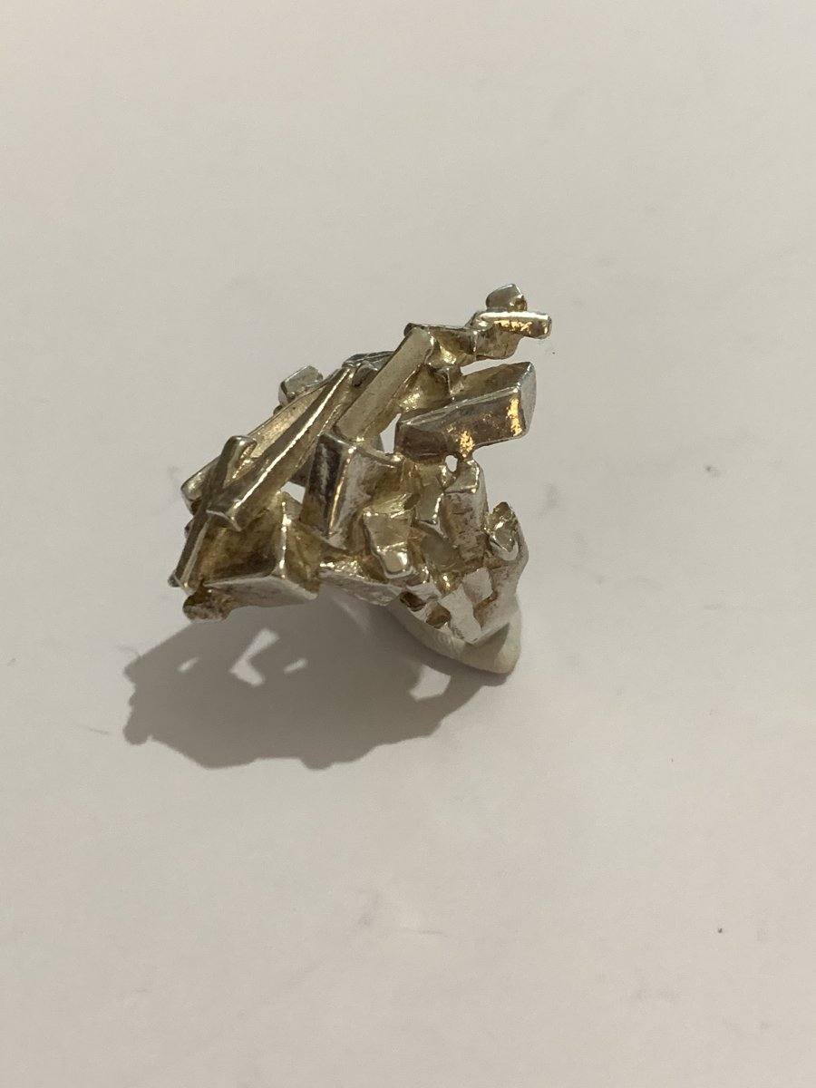 Artist's Jewelry Ring Sculpture Silver