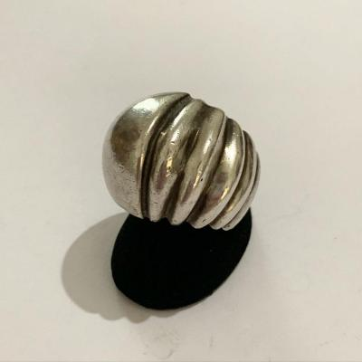 Dome Ring Africanist Model In Silver