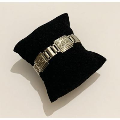 Art Deco Bracelet En Argent