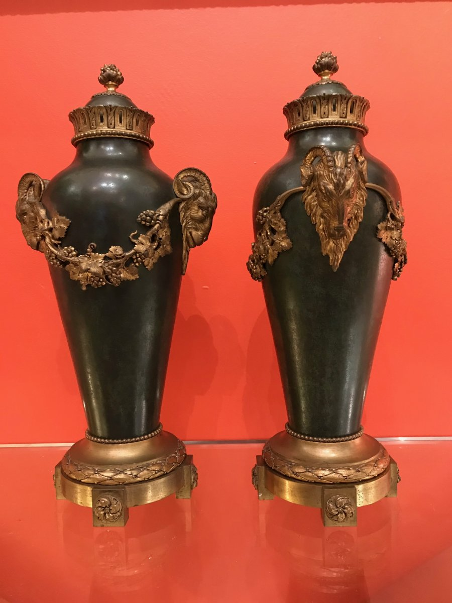 Pair Of Amphora - Louis XVI Style