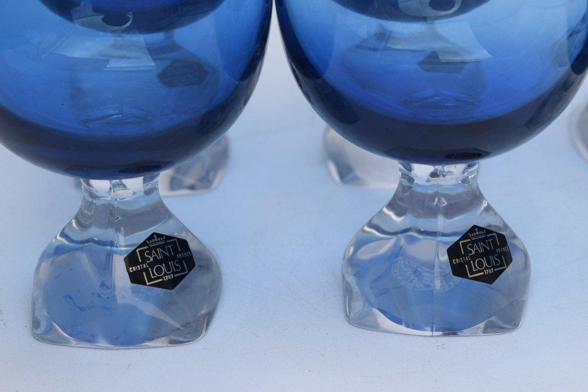 Ensemble. de 6 verre Saint Louis -photo-3