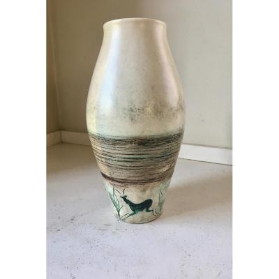 Vase en céramique signé Joal