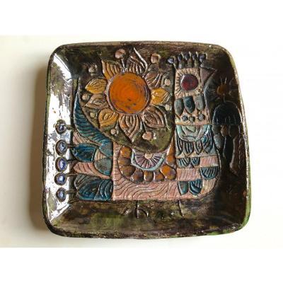 Vide poche en céramique par l'atelier Beauregard.