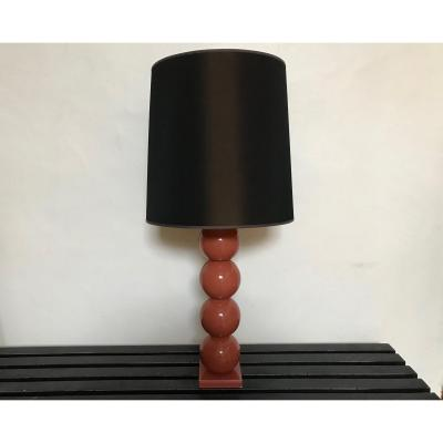 Lacquered Wood Table Lamp - Years 90.