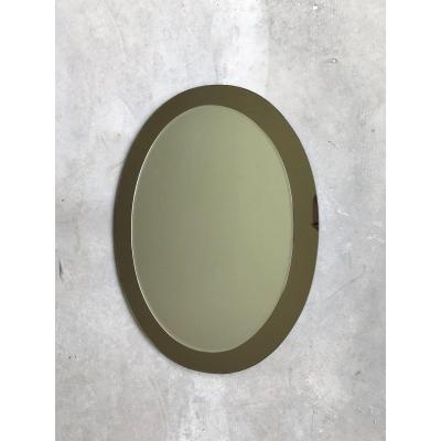 Galvorame Metalvetro Mirror, Italy, Circa 1970.