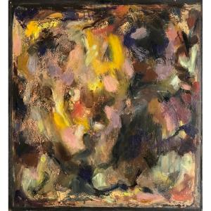Abstract Painting By Robert Fontené (1892-1980)