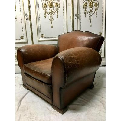 """""""pair Of Leather Club Chairs"""""""