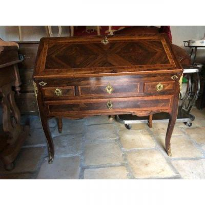 Slope Desk All Faces In Violet Wood And Rosewood Marquetry