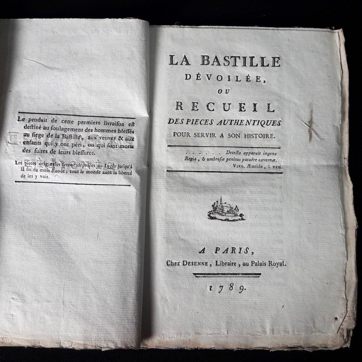 La Bastille Dévoilée, Par François Charpentier, Les 3 Premières Livraisons /9, Desenne 1789