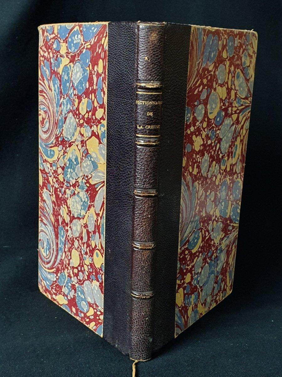 """Rare """"Dictionnaire de la Creuse"""". Aubusson, J. Bregère, 1882"""