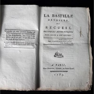 La Bastille Unveiled, By François Charpentier, The 3 First Deliveries / 9, Desenne 1789