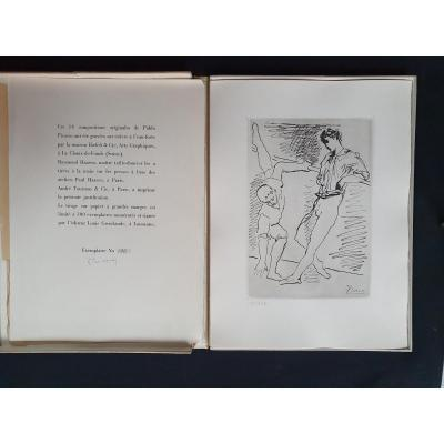 Pablo Picasso, 14 Dessins Gravés Sur Cuivre, édition Originale Louis Grosclaude, Lausanne 1940.