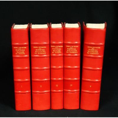 Saluces (count Alexandre De), Histoire Militaire Du PiÉmont, Chez Pierre Joseph Pic, 1818 5vol.