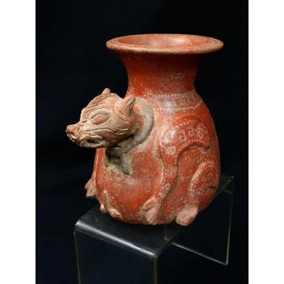 Vase Zoomorphe, Culture Maya, Mexique. 450 - 650 Après J.-c.