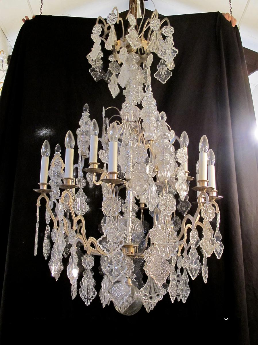 Lustre d'Eglise bronze et cristal
