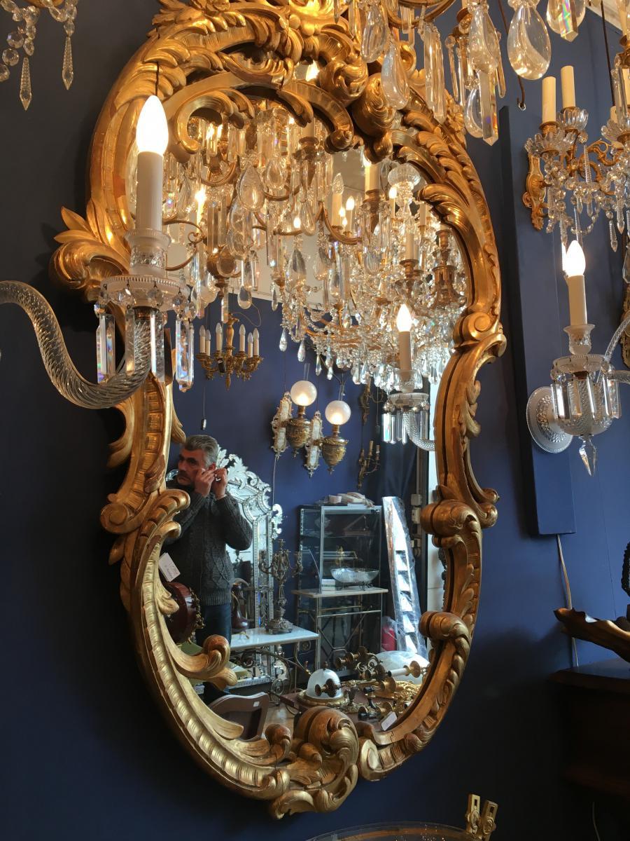 Miroir En Bois Dore Style Lxv