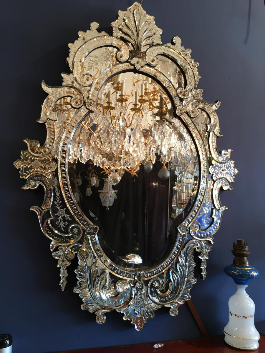 Glace venise miroir v niten napol on iii miroirs for Glace miroir