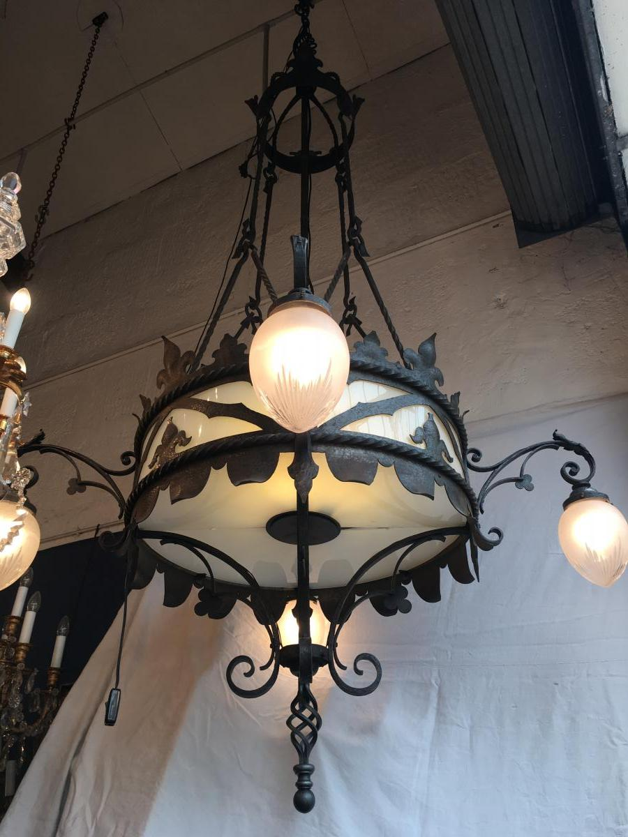 Gothic Iron Forge Chandelier