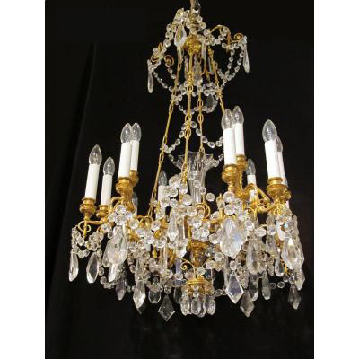 "Chandelier ""baccarat"" 19th"