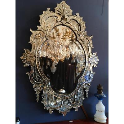 Glace Venise - Miroir véniten Napoléon III