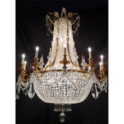 Grand Lustre ancien Montgolfiere