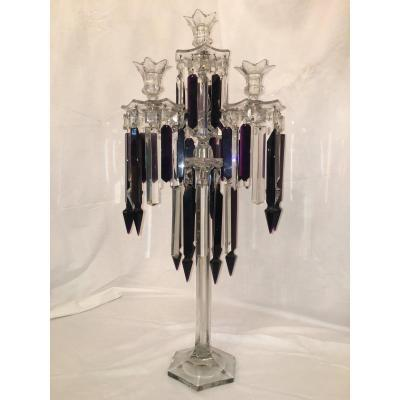 Chandelier Bougeoir En Cristal